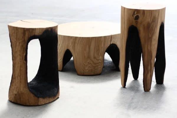 Ausgebrannt-stools-by-Kaspar-Hamacher