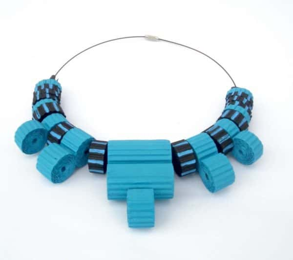 corrugated-cardboard-necklace-with-blue-black-beads