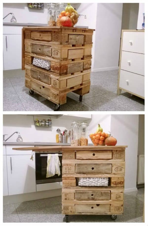 30+ Ways of Reusing Wooden Pallets In Your Kitchen 19 • Recycled Pallets