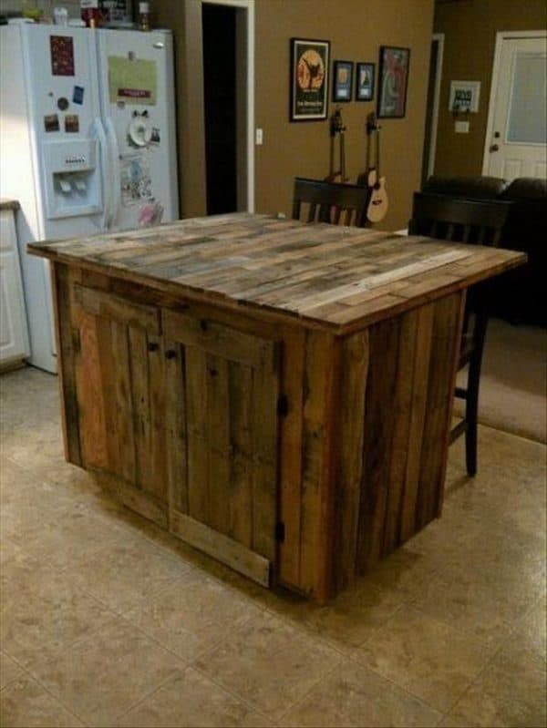 30+ Ways of Reusing Wooden Pallets In Your Kitchen 23 • Recycled Pallets