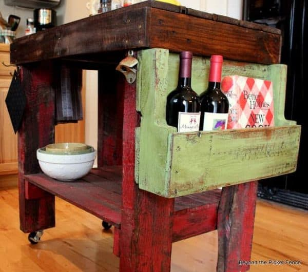 30+ Ways of Reusing Wooden Pallets In Your Kitchen 37 • Recycled Pallets