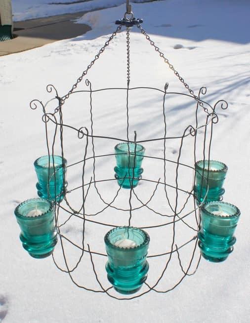 30+ Creative Ideas Using Vintage Glass Insulators 13 • Do-It-Yourself Ideas