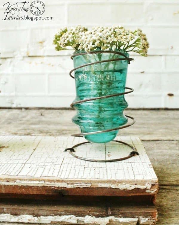 30+ Creative Ideas Using Vintage Glass Insulators 43 • Do-It-Yourself Ideas