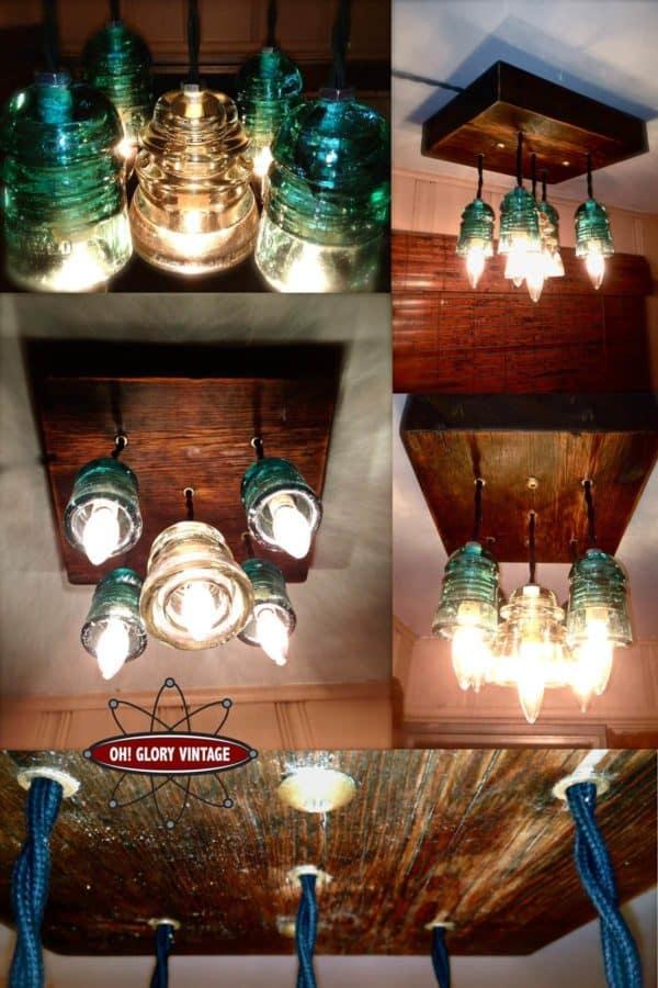 30+ Creative Ideas Using Vintage Glass Insulators 20 • Do-It-Yourself Ideas