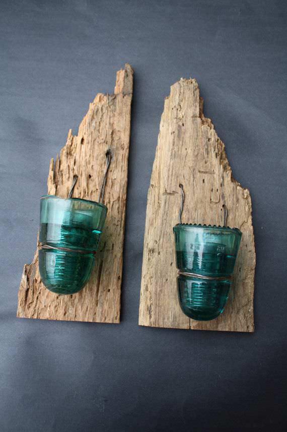 30+ Creative Ideas Using Vintage Glass Insulators 9 • Do-It-Yourself Ideas