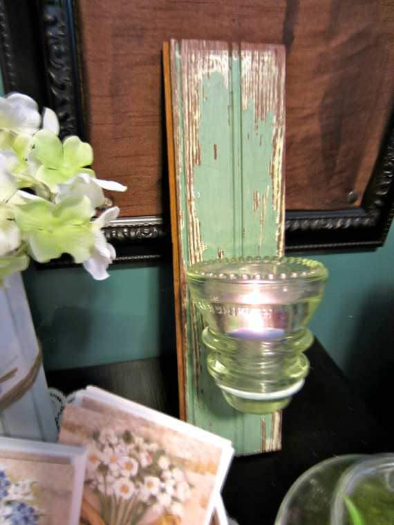 30+ Creative Ideas Using Vintage Glass Insulators 7 • Do-It-Yourself Ideas