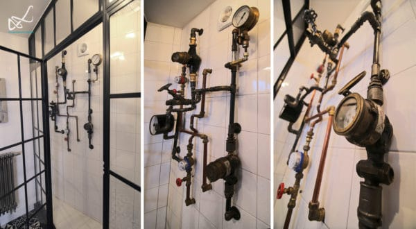 Bathroom Hydraulic Installation Recycled Art