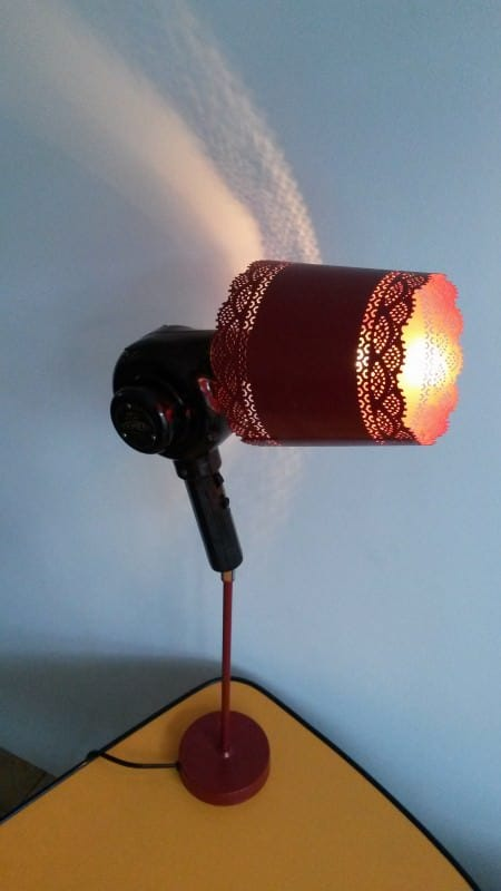 Upcycled Bakelite Hair Dryer Into Lamp 3 • Lamps & Lights