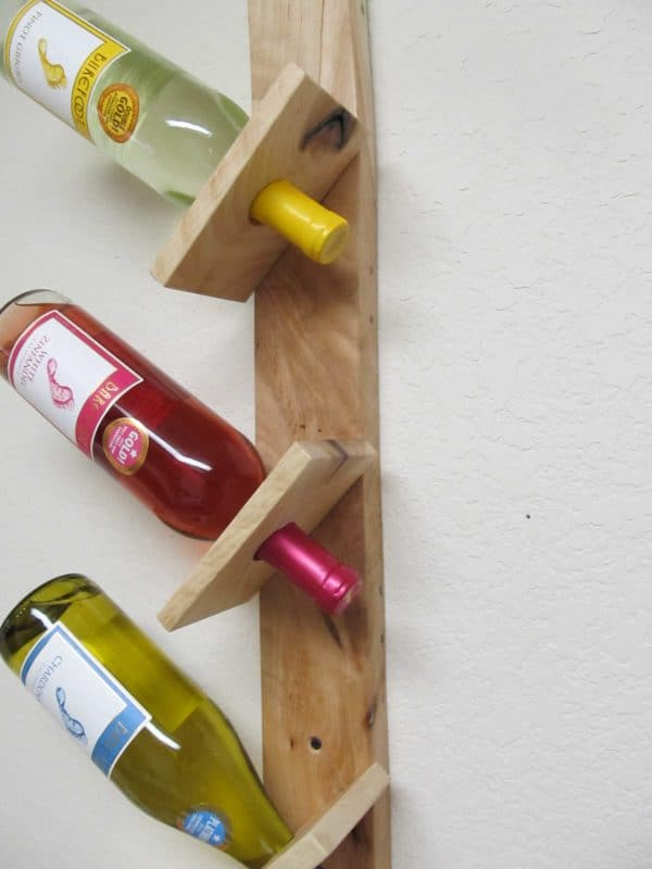 Wine Bottle And Glass Display Made Out Of Pallets 3 • Accessories