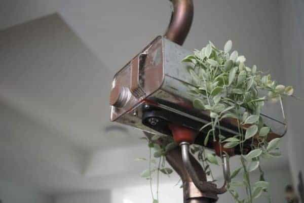 Standing Lamp Planter … From Volkswagen Car Scraps 2 • Lamps & Lights