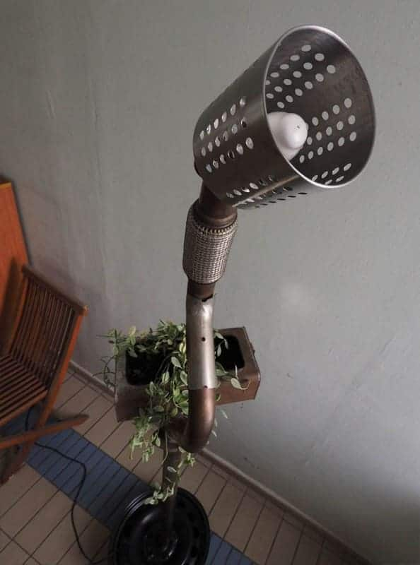 Standing Lamp Planter … From Volkswagen Car Scraps 4 • Lamps & Lights