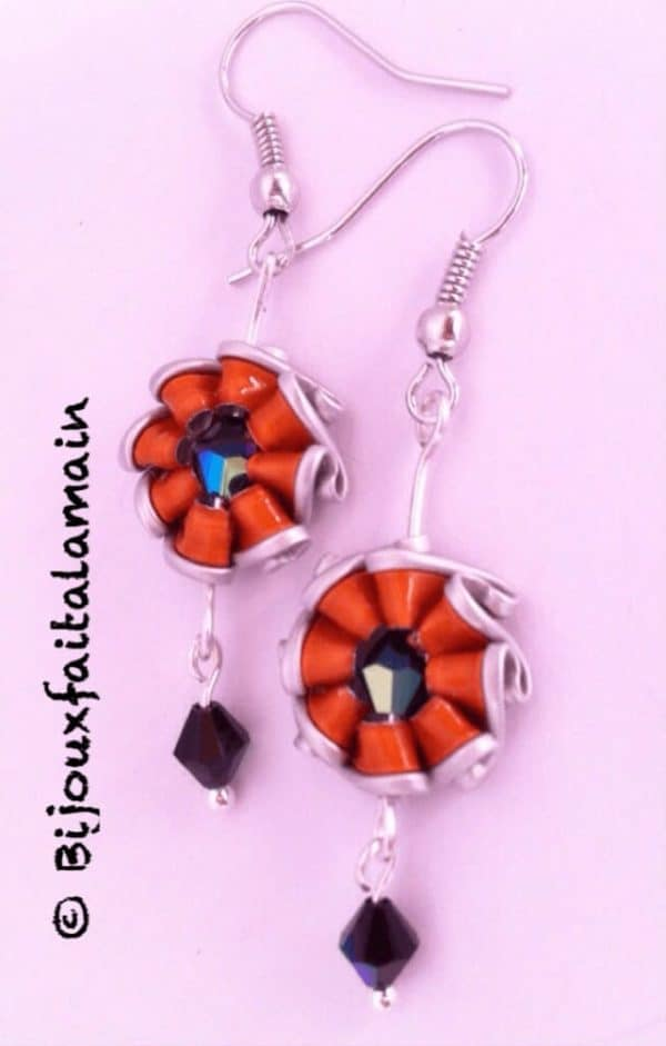 How To Make Sunshine Shaped Earrings Using Coffee Capsules 1 • Do-It-Yourself Ideas