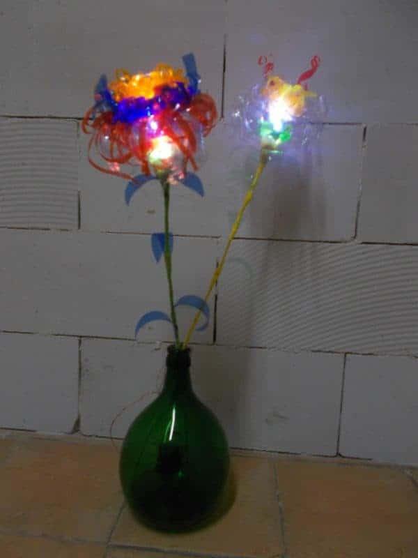 Plastic Glasses & Bottles Flower Lamps 1 • Lamps & Lights
