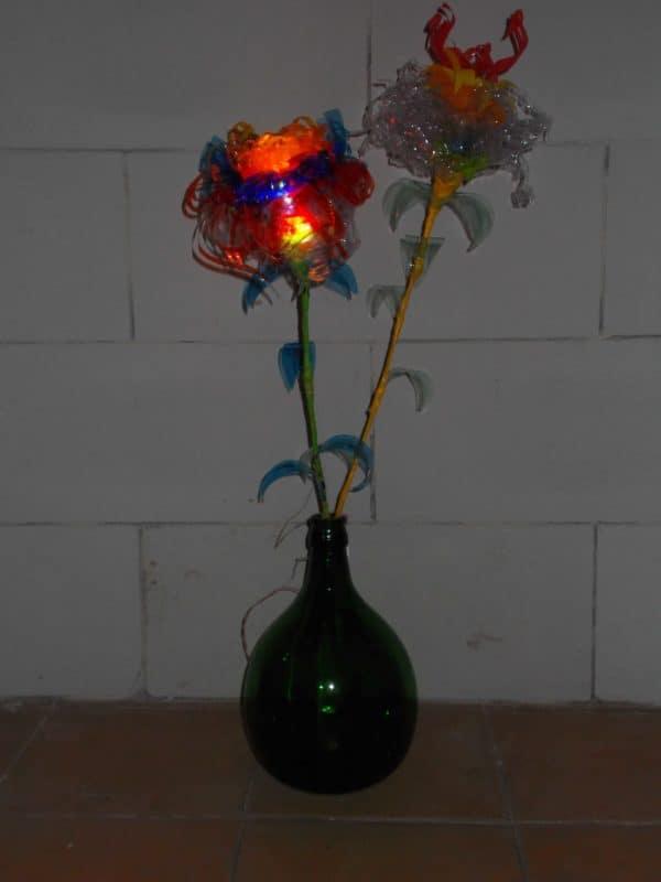 Plastic Glasses & Bottles Flower Lamps 3 • Lamps & Lights