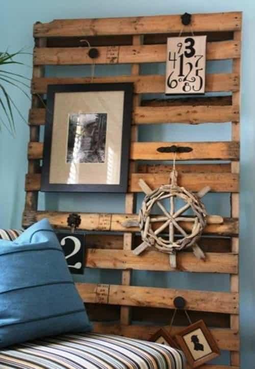 décoration-murale-panneau-palette-bois-thème-maritime