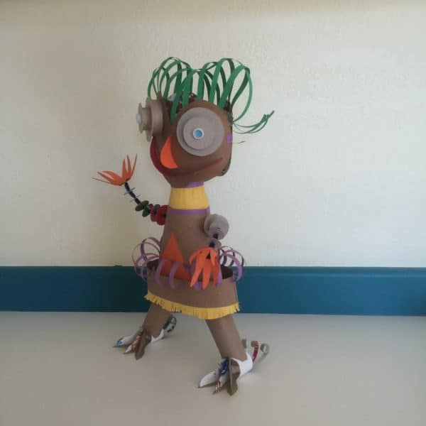 Mary Made From Found Objects 3 • Recycled Art