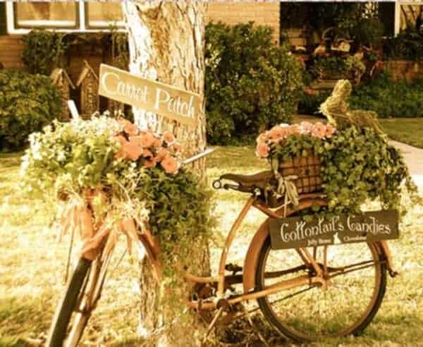 14 Creative Ideas Of Garden Decorations Made From Upcycled Bikes 15 • Garden Ideas