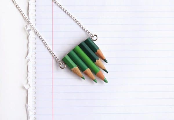 Upcycled Pencils Into Jewelry 9 • Accessories
