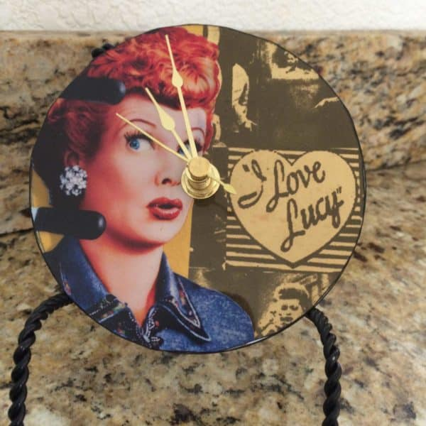 Upcycled Cd I Love Lucy Clock 1 • Accessories