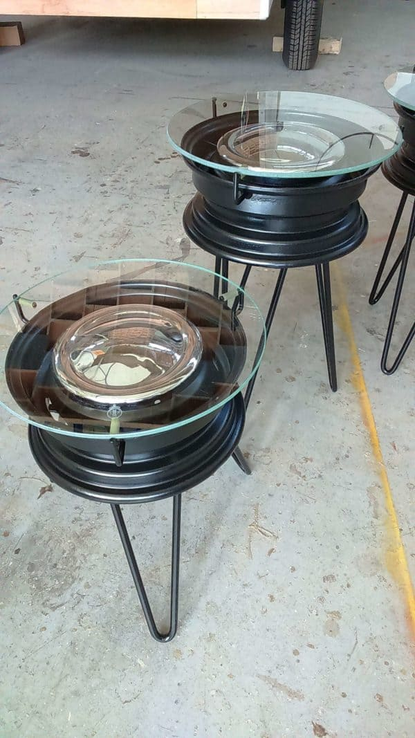 Repurposed Bmx Rims Into Coffee Tables 7 • Recycled Furniture