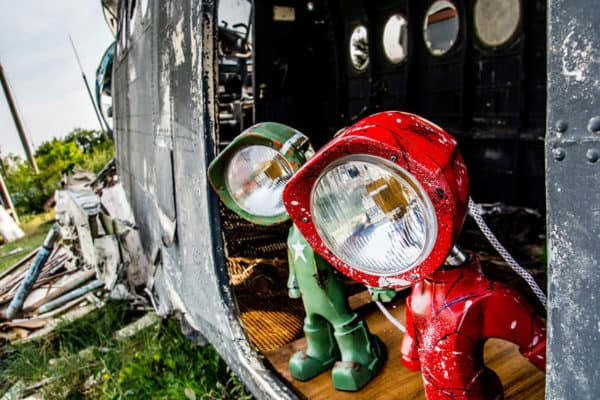 The Lampster: Little Robot Lights From Upcycled Vehicle Lamps 1