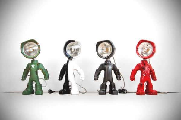 The Lampster: Little Robot Lights From Upcycled Vehicle Lamps 17