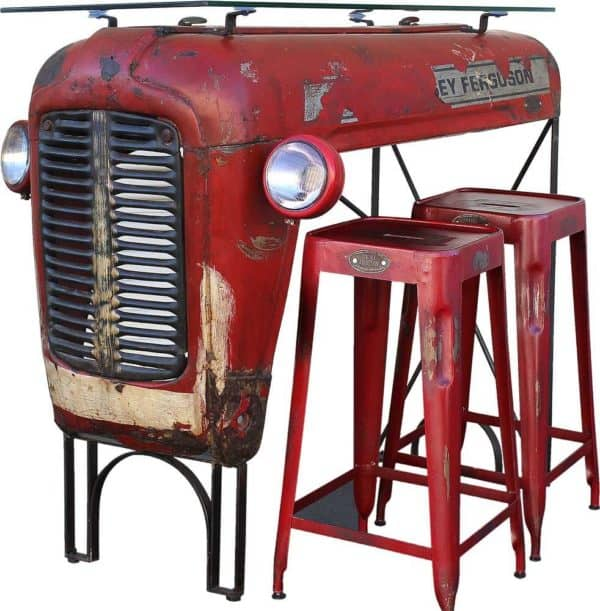 Vintage Massey Ferguson Tractor Upcycled Into Design Bar 1 • Mechanic & Friends