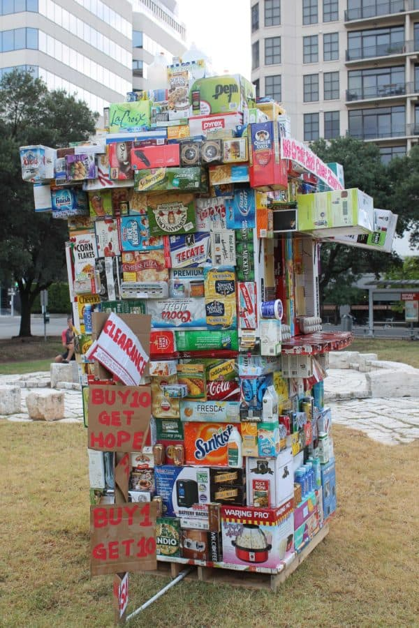Grocery Store From Upcycled Packaging Boxes 5 • Interactive, Happening & Street Art