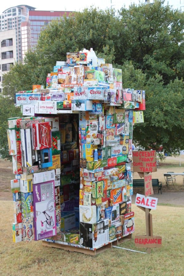 Grocery Store From Upcycled Packaging Boxes 3 • Interactive, Happening & Street Art