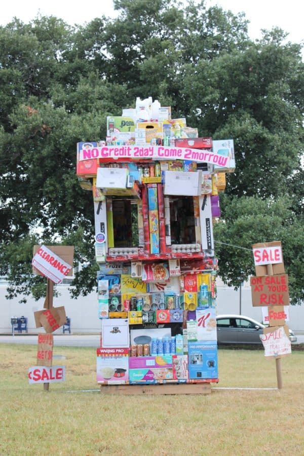 Grocery Store From Upcycled Packaging Boxes 1 • Interactive, Happening & Street Art