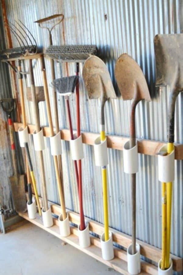 6 of the Best & Easy Garden Tool Rack You Can Make from Recycled Materials 6 • Do-It-Yourself Ideas
