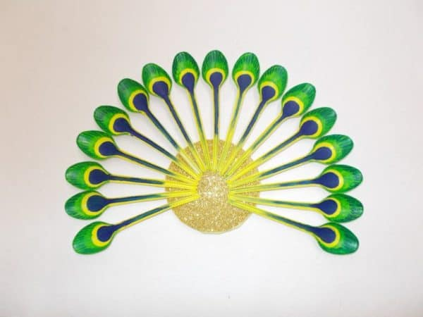 Diy: How To Make Beautiful Peacock With Plastic Spoon 11 • Recycled Art