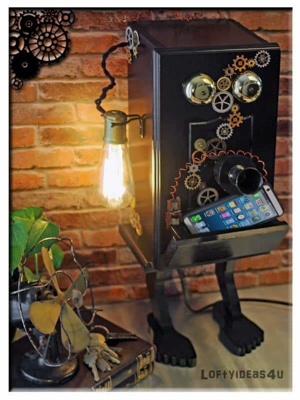 recyclart.org-steampunk-gears-whimsical-wood-black-telephone-upcycled-2-port-usb-charger-lamp2