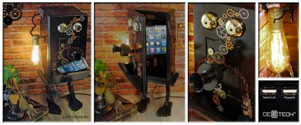 recyclart.org-steampunk-gears-whimsical-wood-black-telephone-upcycled-2-port-usb-charger-lamp