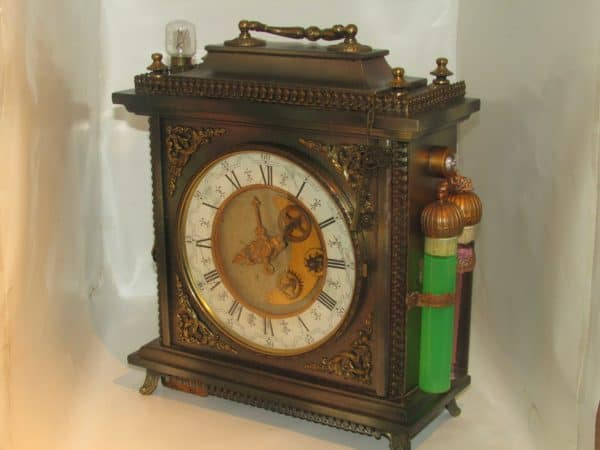 Steampunk Lamp From an Old Clock Lamps & Lights