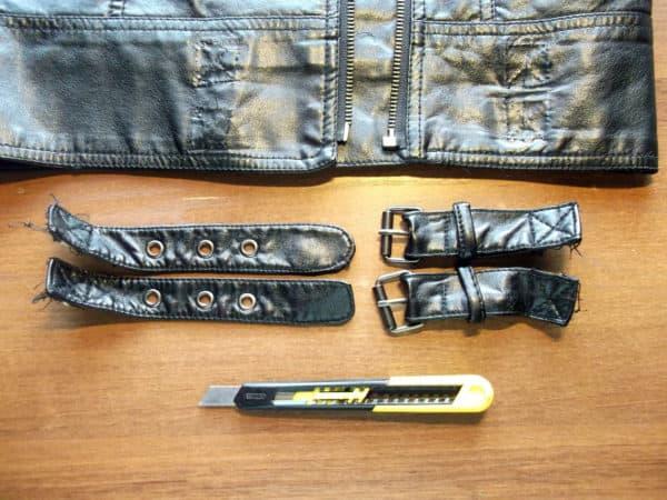 recyclart.org-old-faux-leather-jacket-into-bracelets4