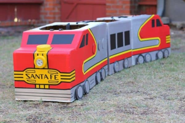 Cardboard-Upcycled-Train