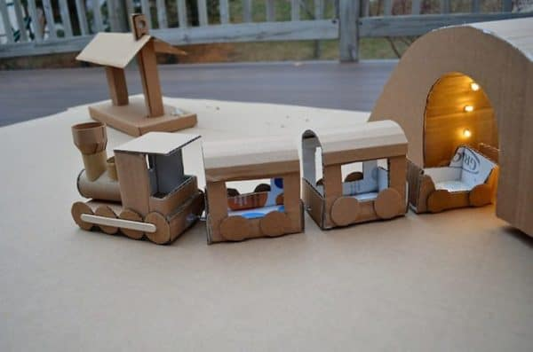 Kids-Fun-with-Cardboard-Train