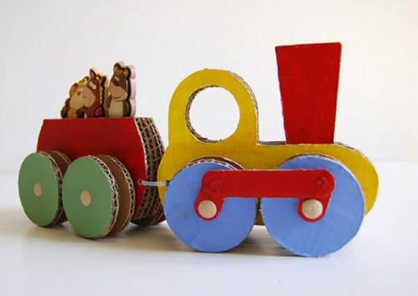 Repurposed-Cardboard-Train