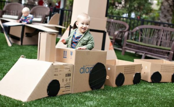 Upcycled-Cardboard-Train