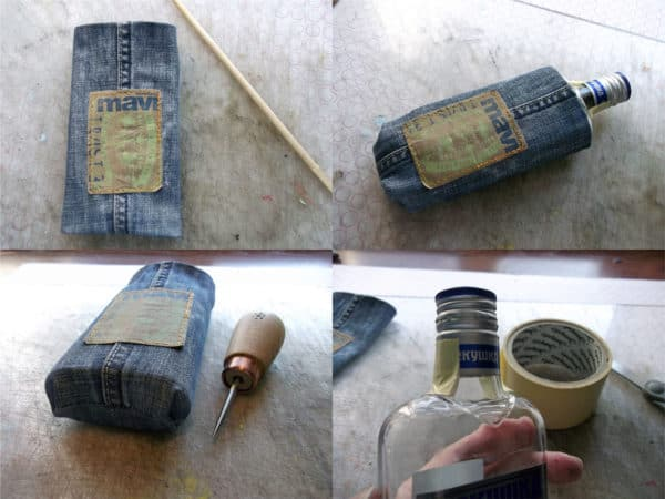 recyclart.org-how-to-make-flask-from-your-favourite-but-old-jeans-and-a-glass-bottle4