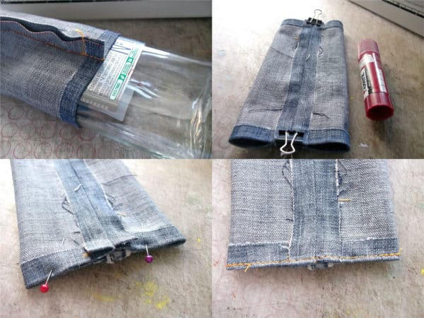 recyclart.org-how-to-make-flask-from-your-favourite-but-old-jeans-and-a-glass-bottle3