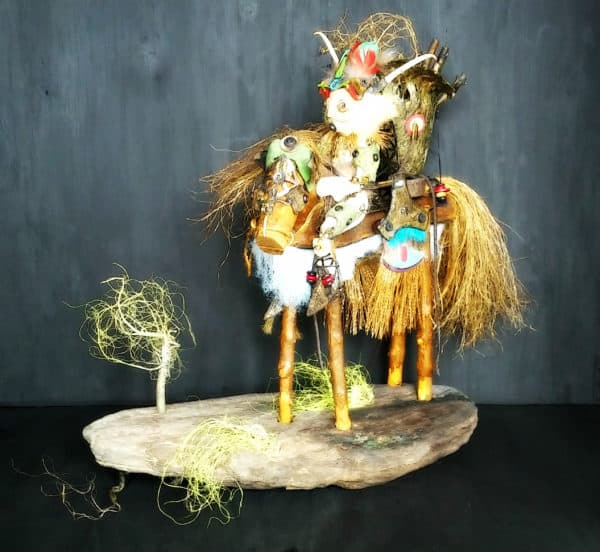 Biscornu: Recycled Art Sculpture Recycled Art