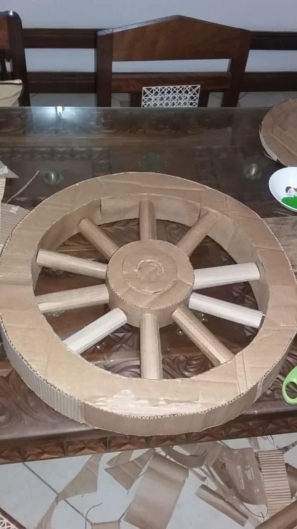 Wedding Wheel Decor From Recycled Cardboard 2 • Recycled Cardboard