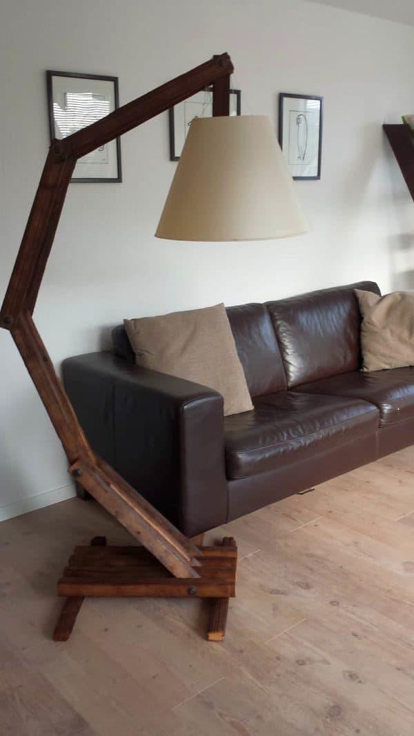 Reclaimed Slats Into Design Lamp 1 • Wood & Organic