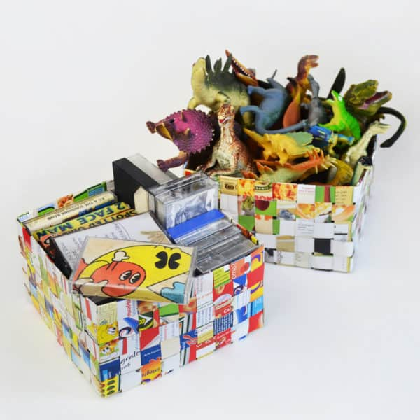 recyclart.org-cereal-box-woven-basket