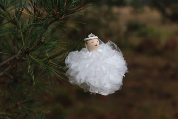 Christmas Angel Ornaments From Re-used Plastic Sandwich Bags 3 • Do-It-Yourself Ideas