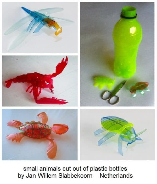 Animals Cut out of Plastic Bottles 1 • Recycled Plastic