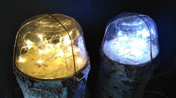 Dome Fairy Log Lamps 5 • Wood & Organic