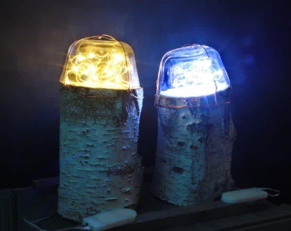 Dome Fairy Log Lamps 3 • Wood & Organic